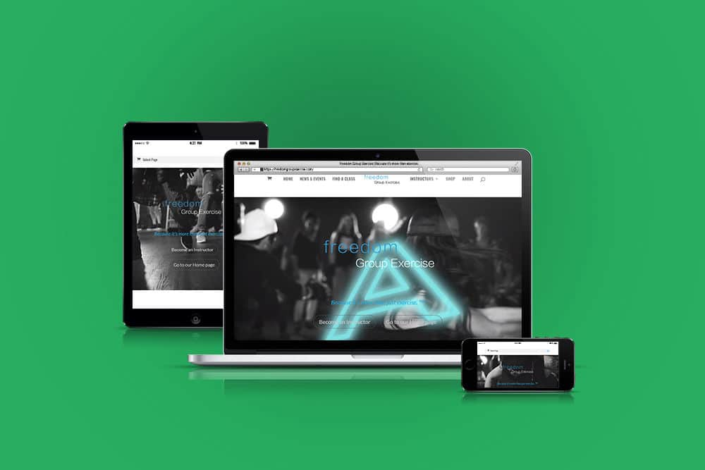 Freedom Group Exercise website - Responsive Website Mockup
