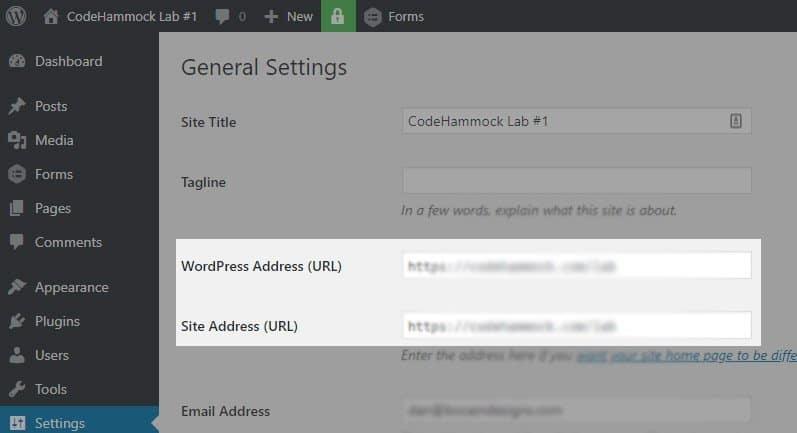 Update domain in WordPress