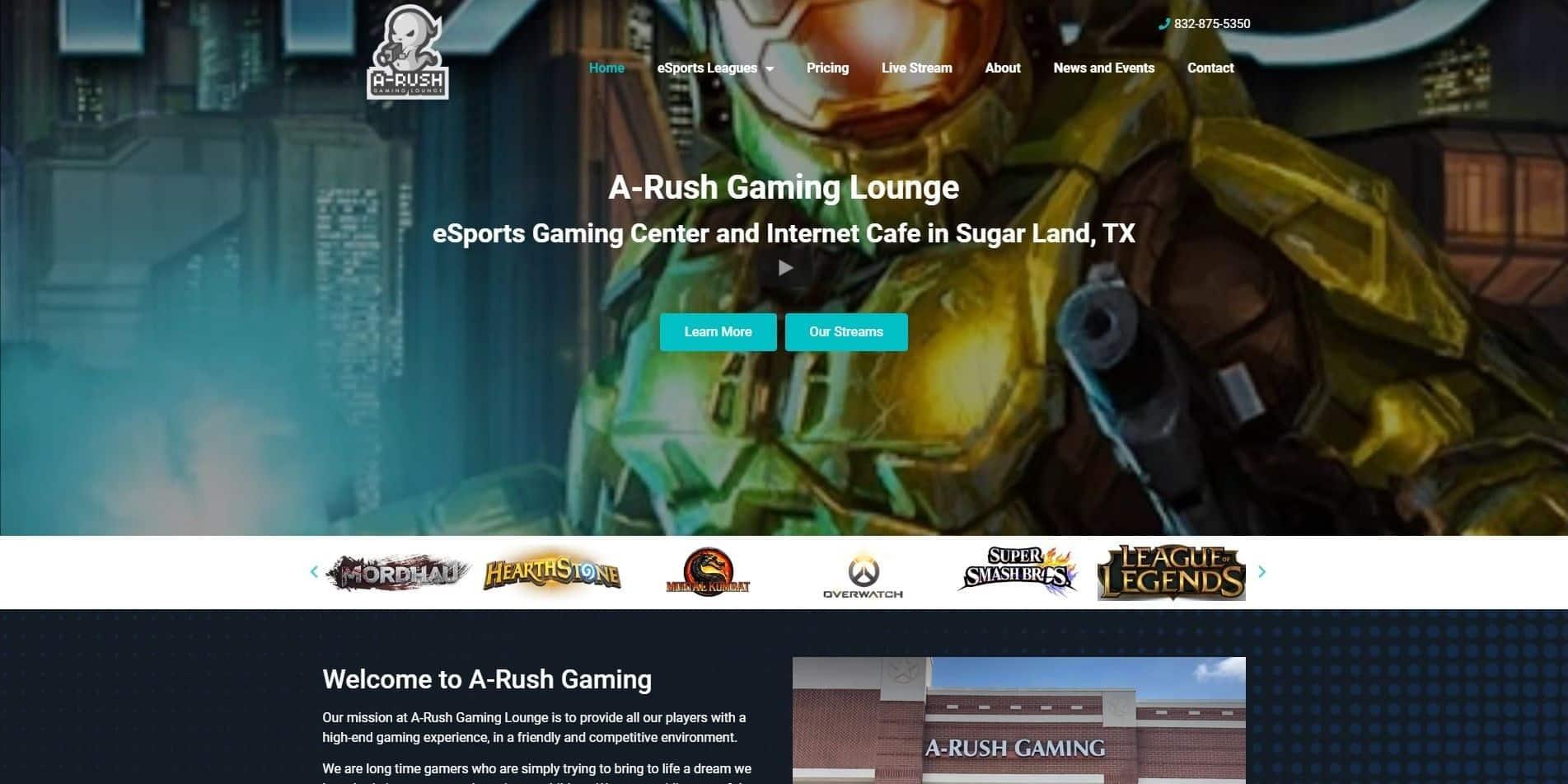 A Rush Gaming Homepage